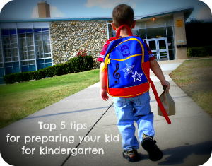 Top 5 tips for sending your kid to kindergarten