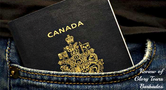 Canadian passport in a pocket