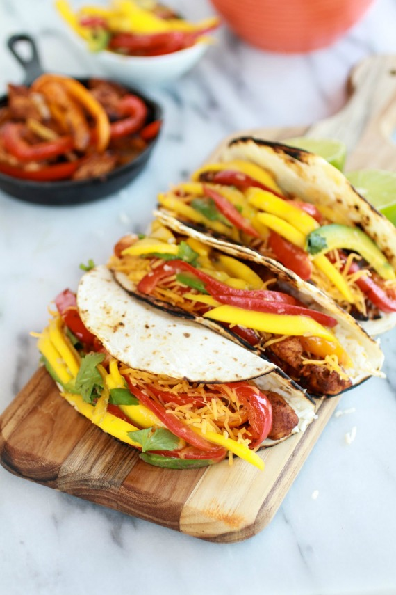 Easy-Chicken-Fajitas-with-Thai-Mango-Slaw-and-Coconut-Rice-2