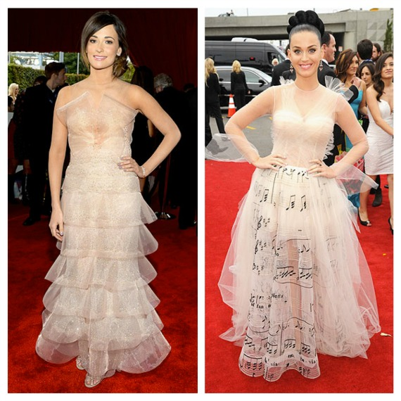 Grammy outfits nude tulle - Katy Perry