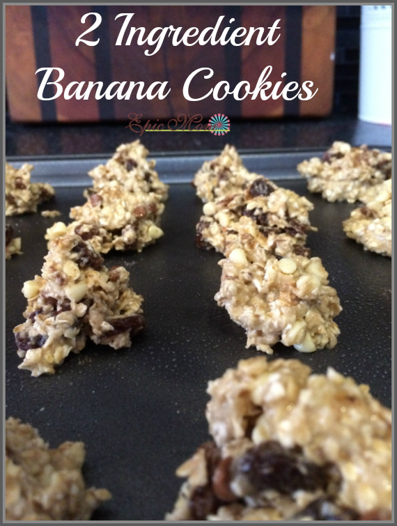 Yummy 2 ingredient banana cookies